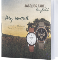 leaflet and description of organic watches - jf hayfield