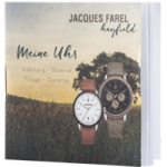 Bedienungsanleitung fuer die oekouhren der JACQUES FAREL hayfield Kollektion mit den Modellen ORW und ORM in vielen verschiedenen Farben